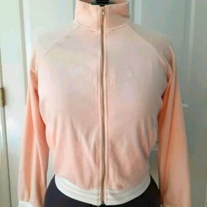 Forever 21 + Plus 2X Pink Stretch Velour Jacket